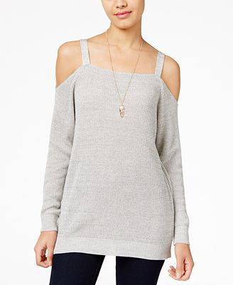 American Rag Juniors' Cold-Shoulder Sweatshirt, Created for Macy's