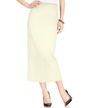 1930s Style Skirts : Midi Skirts, Tea Length, Pleated Kasper Crepe Column Skirt $61.99 AT vintagedancer.com