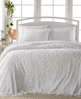 Allison White Tufted 3-Pc. Queen Bedspread Set