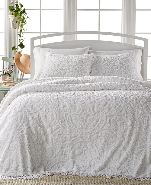 VCNY Home Allison White Tufted 3-Pc Bedspread Sets