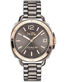 COACH Women's Tatum Gray Ion-Plated Stainless Steel Bracelet Watch 34mm 14502597