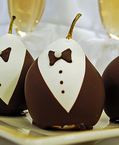 Chocolate Covered Company 6-Pc. Groom Belgian Chocolate Covered Pears