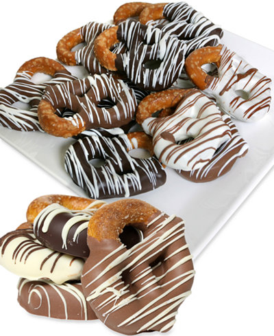 Chocolate Covered Company 12-Pc. Belgian Chocolate Dipped Pretzel Twist Collection