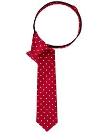 Dot-Print Zipper Tie, Big Boys