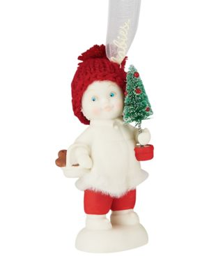 Department 56 Snowbabies Toting the Tree Ornament
