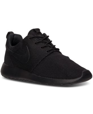 mens nike roshe one casual shoes black