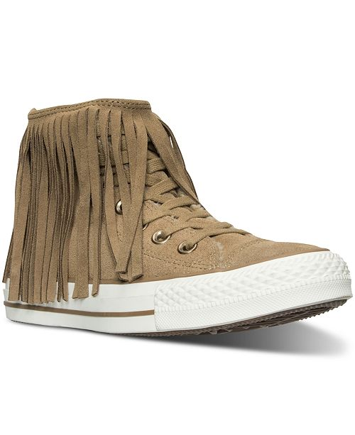 b76def80d1a2 ... Converse Women s Chuck Taylor Fringe Suede + Shearling Casual Sneakers  from Finish ...