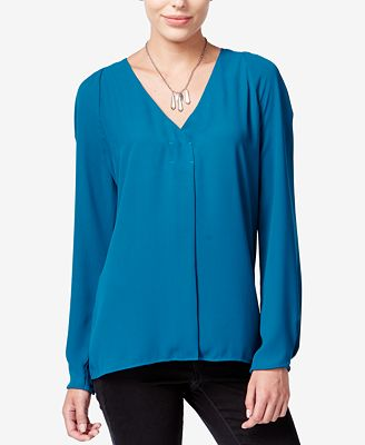Macys Womens Long Sleeve Blouse 109