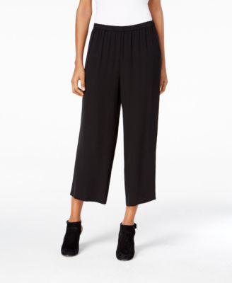 Silk Cropped Pants, Regular & Petite