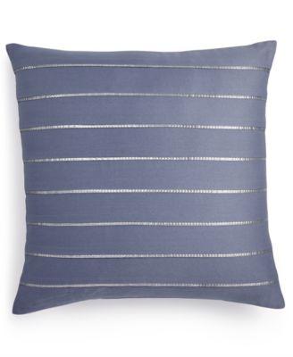 "Sequin Pleat 18"" Square Decorative Pillow"