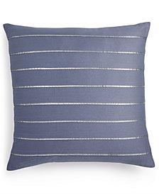 "Calvin Klein Sequin Pleat 18"" Square Decorative Pillow"