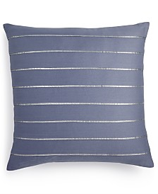 "Calvin Klein Sequin Pleat 18"" Square Decorative Pillow"