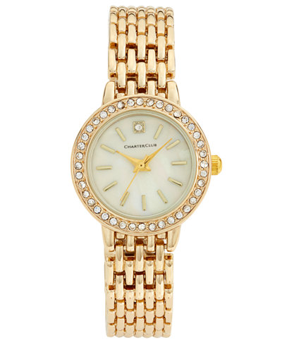 Charter Club Women's Gold-Tone Bracelet Watch 24mm, Only at Macy's