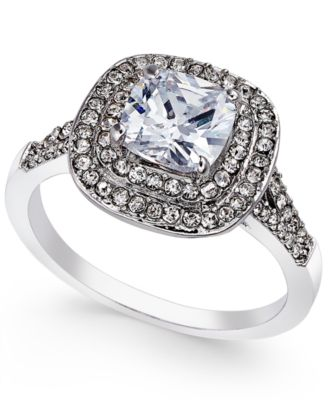 Image of Charter Club Double Halo Crystal Center Ring, Created for Macy's