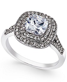 Double Halo Crystal Center Ring, Created for Macy's