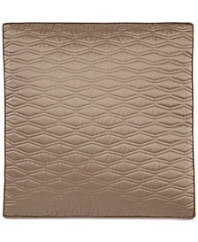 CLOSEOUT! Hotel Collection Woven Texture Red Quilted European Sham, Created for Macy's