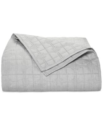 Modern Plaid Twin Coverlet, Created for Macy's
