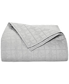 Hotel Collection Modern Plaid Twin Coverlet, Created for Macy's