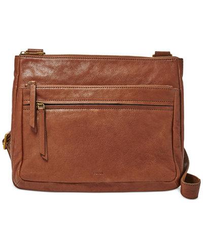 Fossil Large Leather Corey Crossbody - Handbags & Accessories - Macy's
