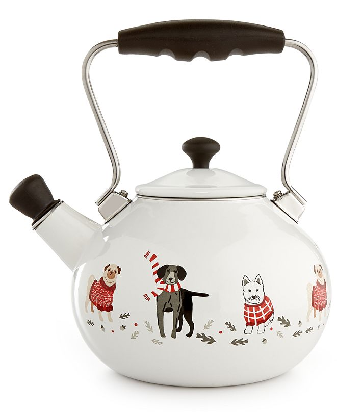 Martha Stewart Collection 2-Qt. Pups and Plaids Tea Kettle, Created for Macy's