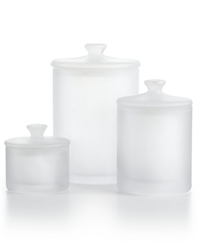 CLOSEOUT! Hotel Collection Frosted Glass Jars, Created for Macy's