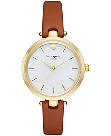 Women's Holland Luggage Leather Strap Watch 34mm KSW1156