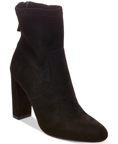 Steve Madden Brisk Block-Heel Sock Booties - Boots - Shoes - Macy\'s