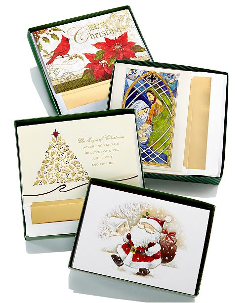 Boxed Christmas Cards.Masterpiece Holiday Card Collection