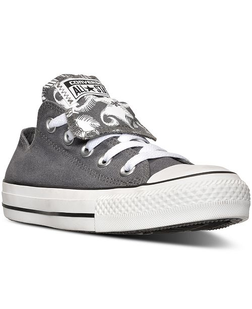 d65368a4d7b7 ... Converse Women s Chuck Taylor All Star Double Tongue Feather Casual  Sneakers from Finish ...
