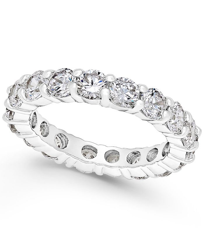 Charter Club - Fine Silver Plate Crystal All-Around Ring