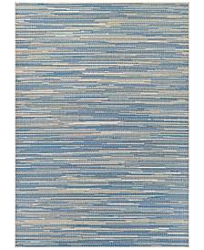 Monaco Indoor/Outdoor Alassio Sand-Azure-Turquoise Area Rugs