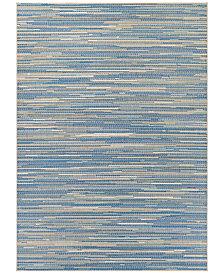 """Couristan Monaco Indoor/Outdoor Alassio Sand-Azure-Turquoise 2'3"""" x 7'10"""" Runner Area Rug"""