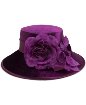 Retro Vintage Style Hats August Hats Velvet Graceful Wide-Brim Dress Hat $40.00 AT vintagedancer.com