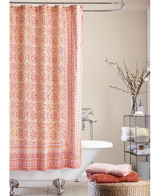 jessica simpson mosaic-tile shower curtain - shower curtains - bed