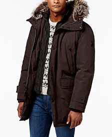 Michael Kors Men's Hooded Bib Snorkel Coat