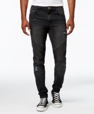 Men's Destructed Moto Jeans, Created for Macy's