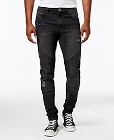 Jaywalker Men's Destructed Moto Jeans, Created for Macy's