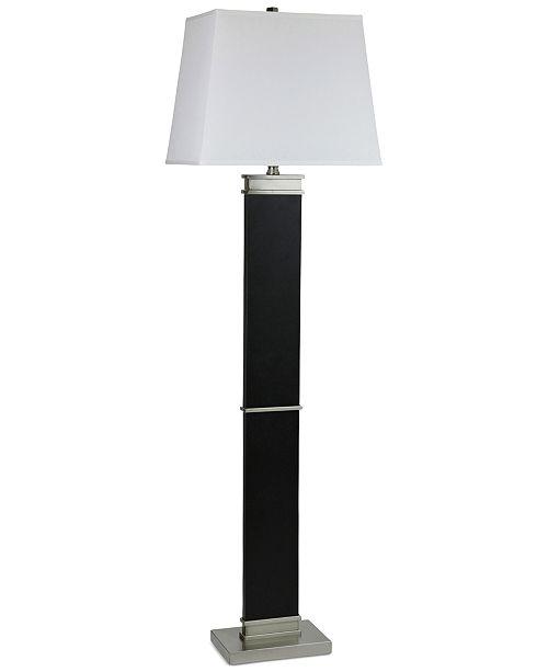StyleCraft Barrer Black Steel Floor Lamp