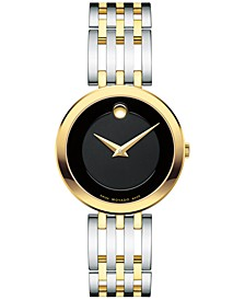 Women's Swiss Esperanza Two-Tone PVD Stainless Steel Bracelet Watch 28mm 0607053