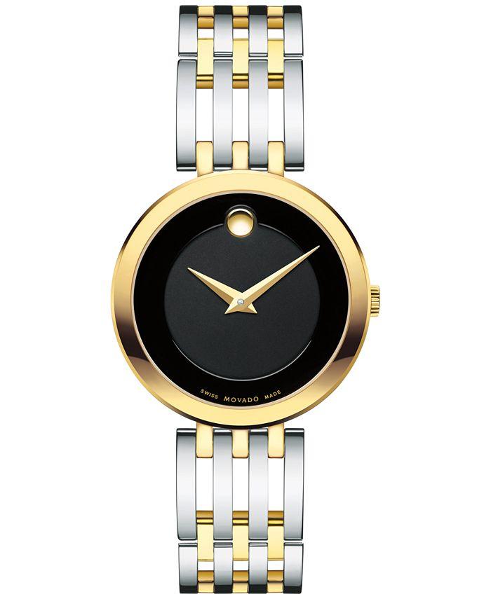 Movado - Women's Swiss Esperanza Two-Tone PVD Stainless Steel Bracelet Watch 28mm 0607053