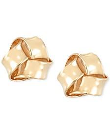 Love Knot Stud Earrings in 10k Gold
