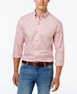 Cutter & Buck Men's Big and Tall Check Oxford Shirt