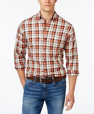 Cutter & Buck Men's Big and Tall Upland Plaid Long-Sleeve Shirt