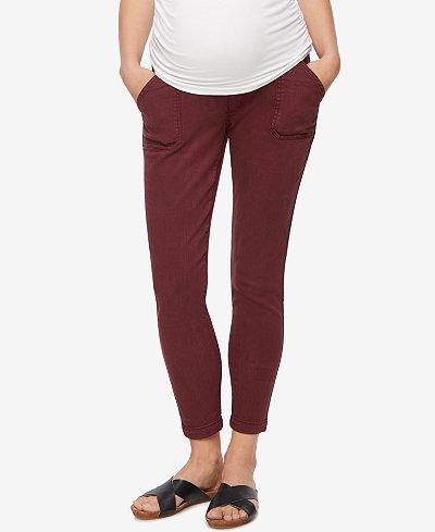 A Pea in the Pod Maternity Twill Skinny-Leg Pants