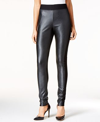 INC International Concepts Faux-Leather Leggings, Only at Macy's ...