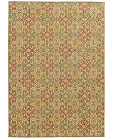 "Cabana Indoor/Outdoor 5501W Pink 3' 10"" x 5' 5"" Area Rug"