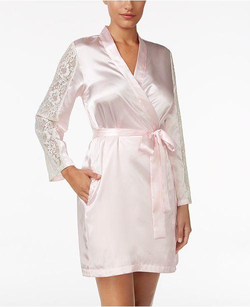 97fb59d710 ... Thalia Sodi Lace-Sleeve Satin Wrap Robe