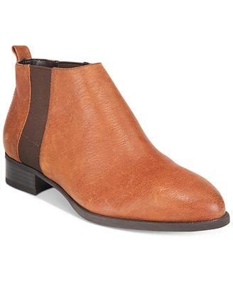 Womens Boots nine west dark brown leather cognac nolynn nt8t69y9