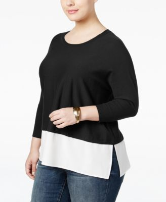 Style & Co. Plus Size Layered-Look Sweater, Only at Macy's