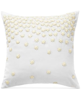 "CLOSEOUT! Juliette Embroidered Floral 16"" Square Decorative Pillow"